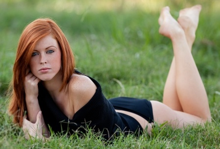 Over The Knee Redhead